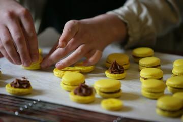 Macarons ripieni di marmellate