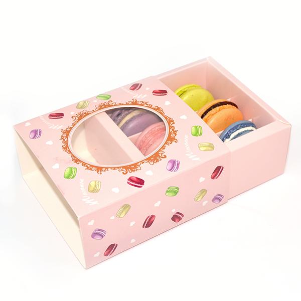 Macarons - confezione da 6 pezzi. Scatola regalo per macarons